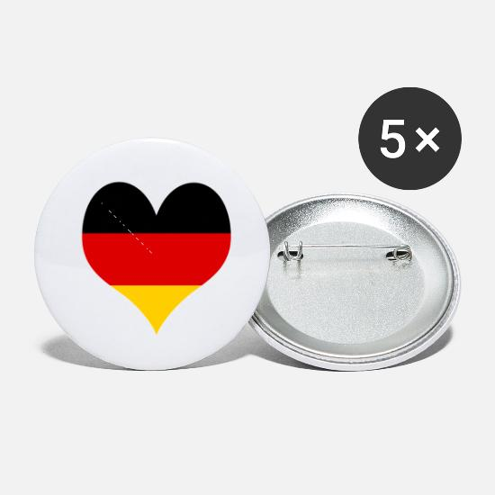 National Buttons - Germany :Land Of Ideas - Small Buttons white