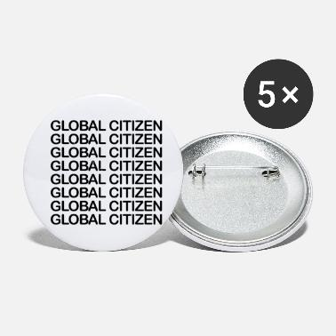 Social Justice Global Citizen - black - Small Buttons