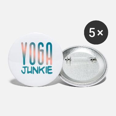 Junkie yoga junkie - Small Buttons