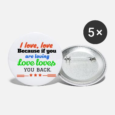 Streaker I love,LOVE - Small Buttons