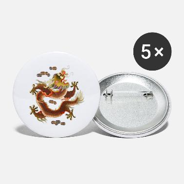 Asian Chinese dragon embroidery - Small Buttons
