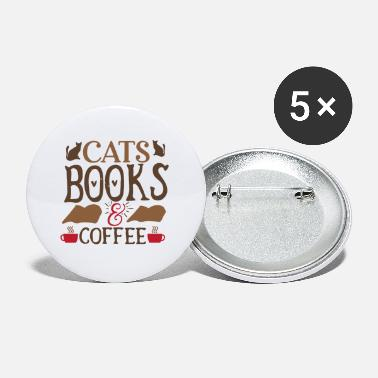 Amsterdam Cats Books Coffee - Small Buttons