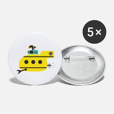 Under Water Submarine, under water - Small Buttons