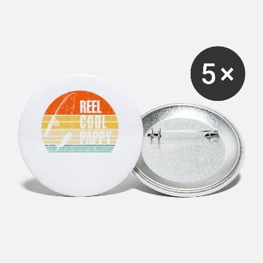 Nature Reel Cool Papa Fishing Nature Lovers Dad Husband F - Small Buttons