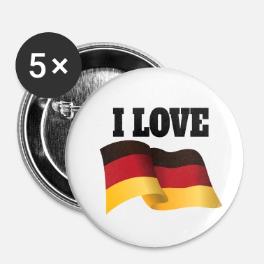 Flutter Country I love Germany German Flag Flutter - Small Buttons