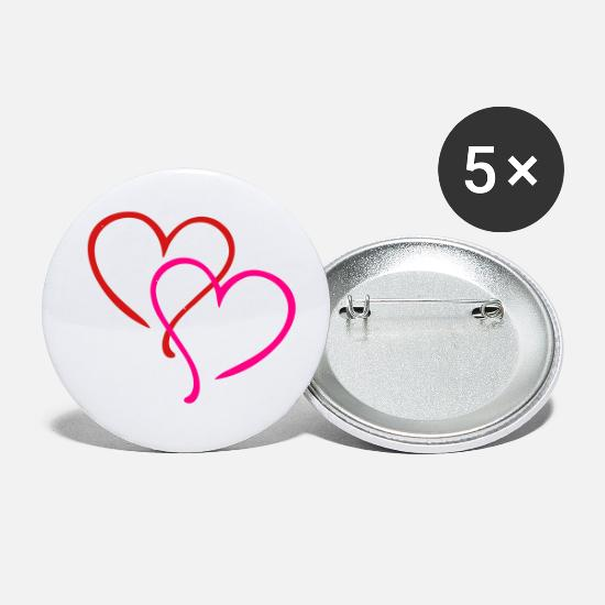 Love Buttons - Hearts - Small Buttons white