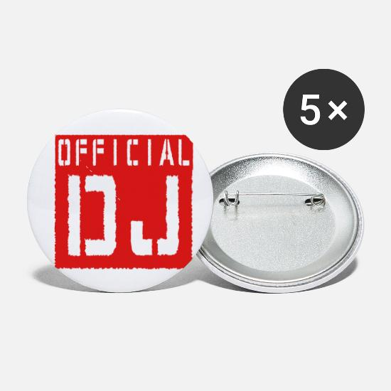 Official Buttons - Official DJ - Small Buttons white