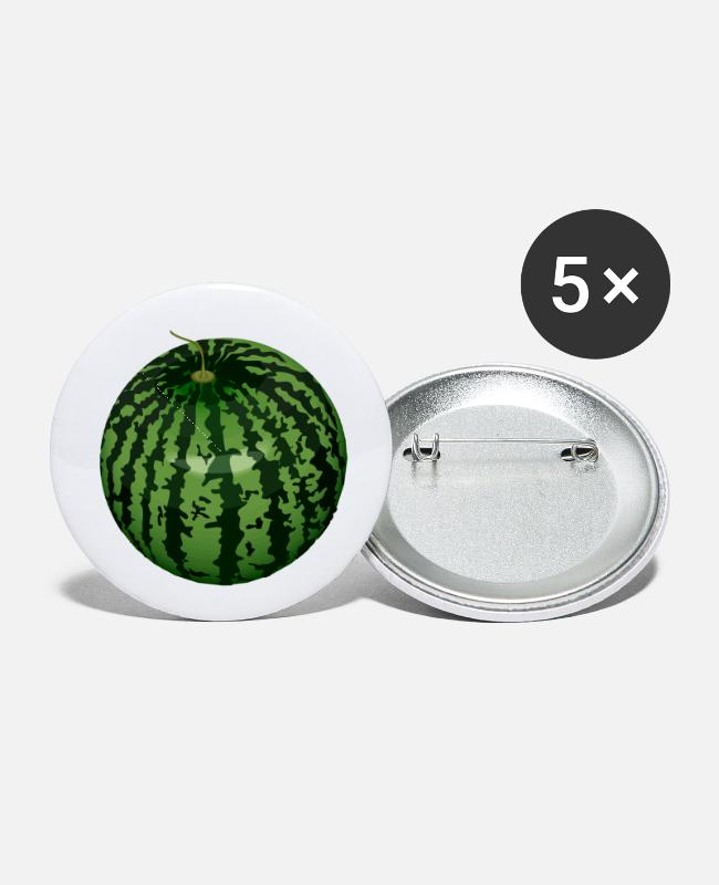 Sphere Buttons & Pins - Watermelon - Small Buttons white
