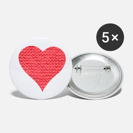 Love Buttons - Wool heart - Small Buttons white