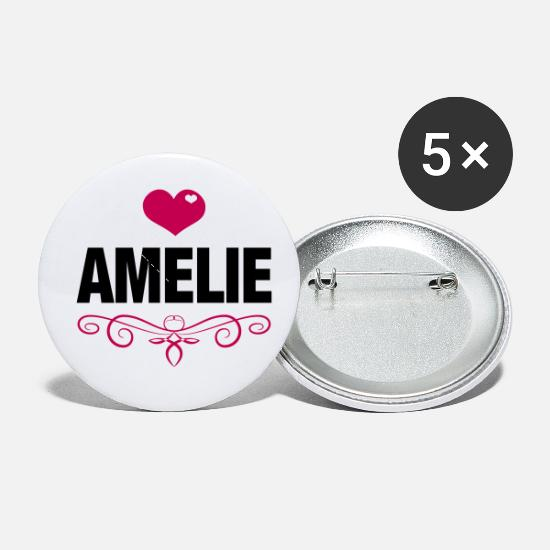 Love Buttons - Amelie - Baby, Cute, Love, Birthday, Gifts, Family - Small Buttons white