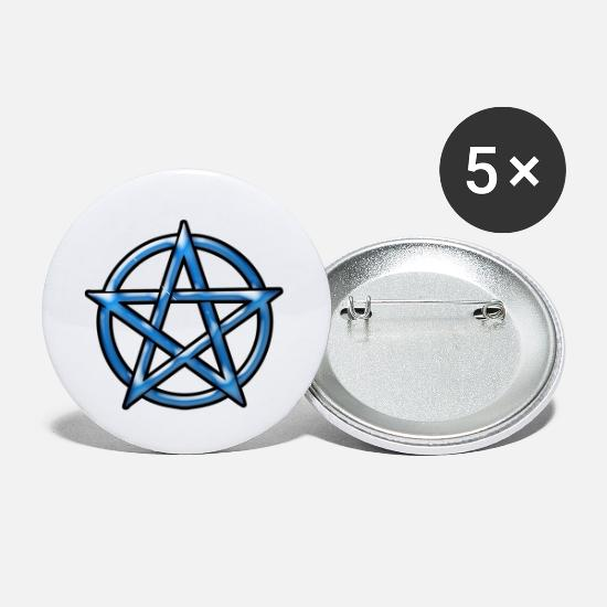Wicca Buttons - Pentagram - Small Buttons white