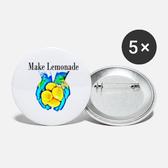 Earth Buttons - Make Lemonade - Small Buttons white