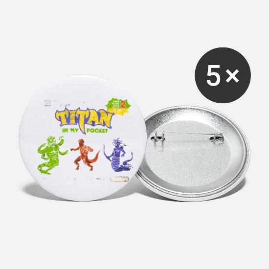 Game Buttons - Titan in My Pocket - Small Buttons white