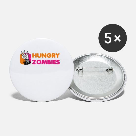 Zombies Buttons - Hungry Zombies - Small Buttons white