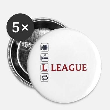 League Of Legends Eat Sleep League Repeat - Small Buttons