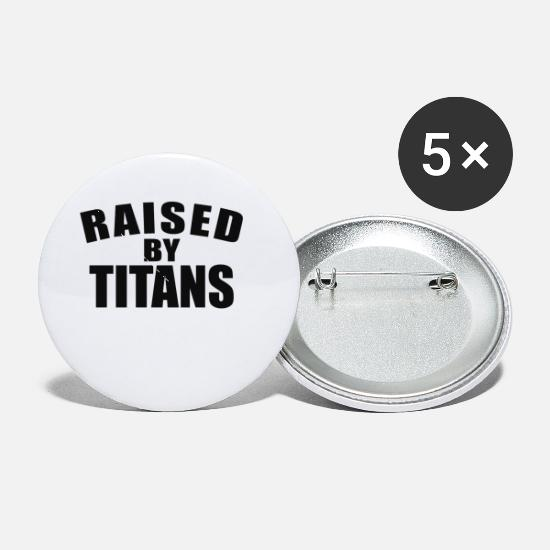 Movie Buttons - Raised By Titans - Small Buttons white