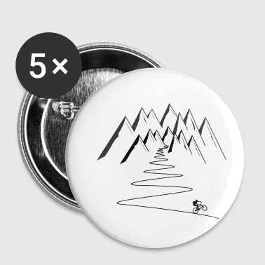 mountain bike mountains cycling - Small Buttons