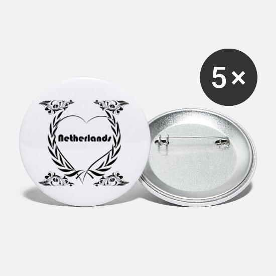Love Buttons - I love Netherlands - Small Buttons white