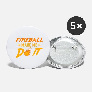 Fireball Whiskey Fireball made me do it shirt whisykey cinnamon - Small Buttons