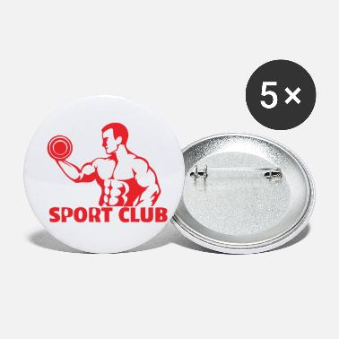 Weights weight lifters - Small Buttons