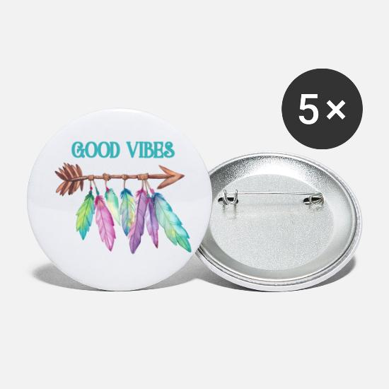 Good Buttons - Good Vibes - Small Buttons white