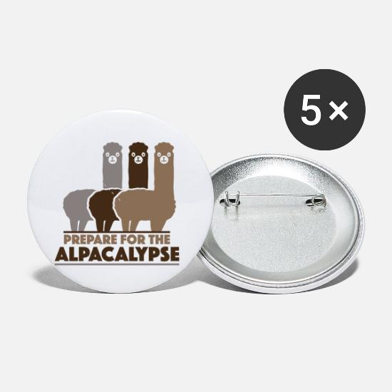 Sayings Buttons - Prepare For The Alpacalypse - Small Buttons white