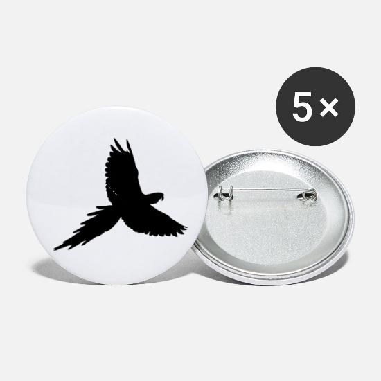 Illustration Buttons - Parrot Silhouette - Small Buttons white