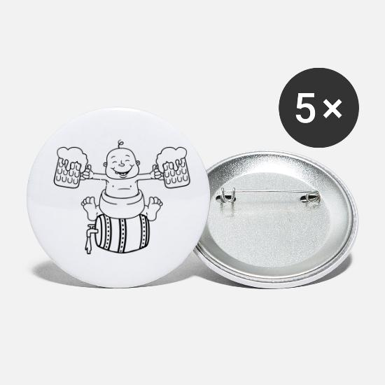 Offspring Buttons - drunk, octoberfest, drinking, alcohol, glass, jug, - Small Buttons white