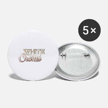 Chrome White Chrome - Small Buttons