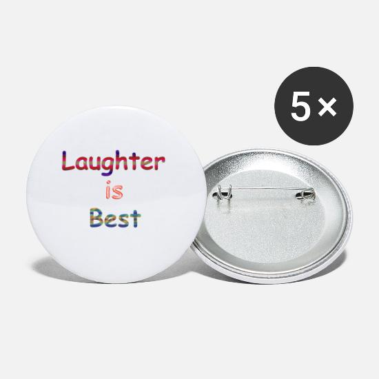 Amazing Buttons - Laughter is Best - Small Buttons white