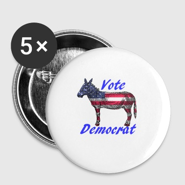 Democratic Party Vote Democrat - Small Buttons