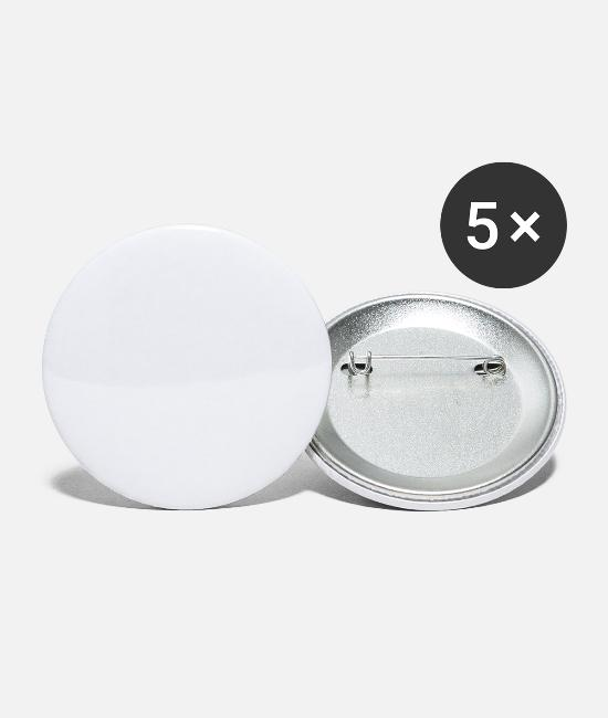 Aussie Buttons & Pins - fair dinkum - Small Buttons white