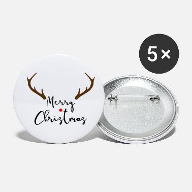 Merrily Merry Christmas red nose antler gift - Small Buttons