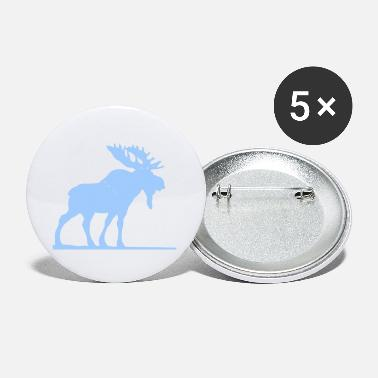 Moose Abstract Moose Design - Small Buttons