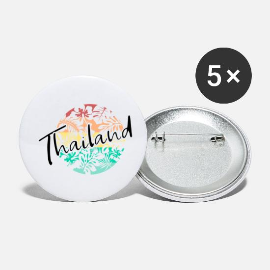 Asia Buttons - Thailand - Small Buttons white