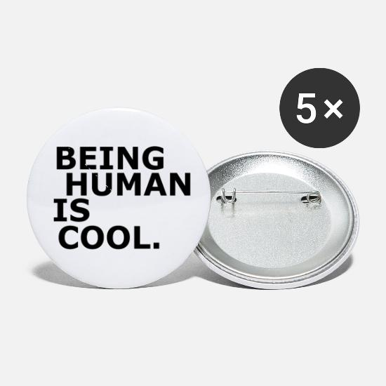 Human Buttons - Being Human is Cool Design - Small Buttons white