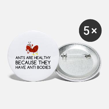 Jokey ANTS HEALTHY ANTI BODIES JOKE CARTOON - Small Buttons