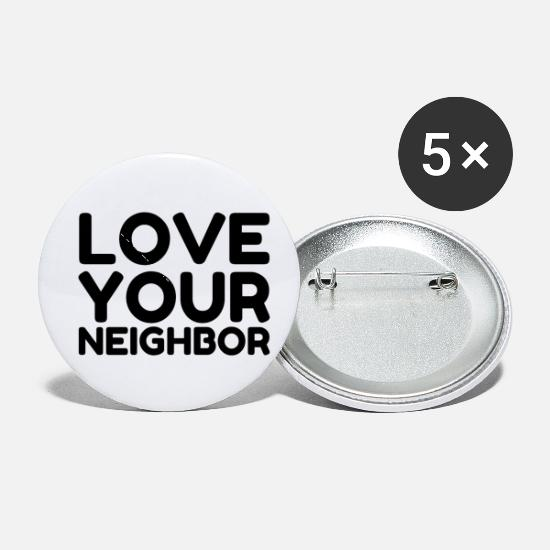 Heart Buttons - LOVE YOUR NEIGHBOR - Small Buttons white