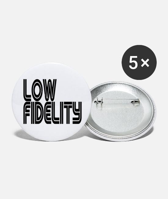 Breakbeat Buttons & Pins - Low Fidelity - Small Buttons white