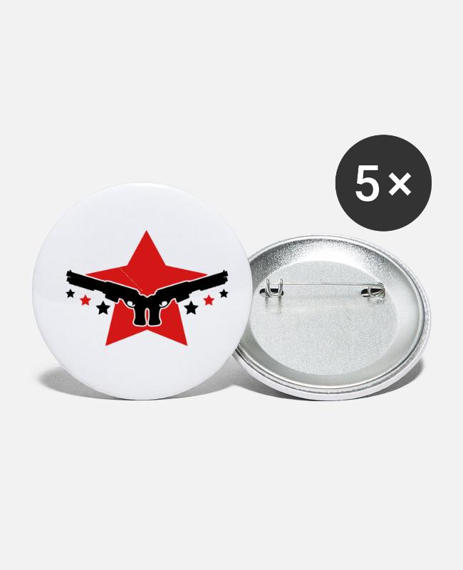 Gun Buttons & Pins - guns_design_c2 - Small Buttons white