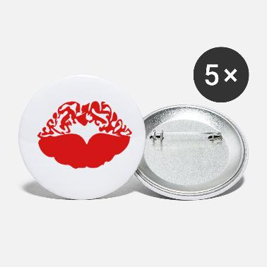 Deadly Sexy Vampire Luscious Red Lips Design For ♥ټXxSexy Tattooed Luscious Sensual Lips xXټ♥ - Small Buttons