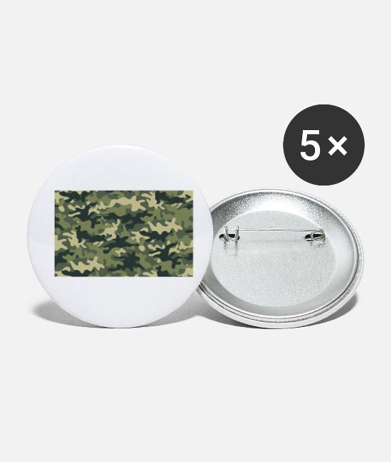 Pattern Buttons & Pins - Camouflage pattern green - Small Buttons white