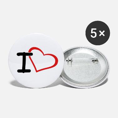 I Heart i heart - Small Buttons