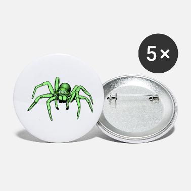 Green Giant green spider / giant spider - Small Buttons