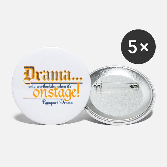Drama Buttons - Rampart Drama - Small Buttons white
