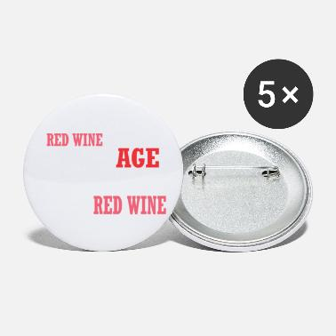 Red Wine Red Wine Improves With Age Improve With Red Wine - Small Buttons