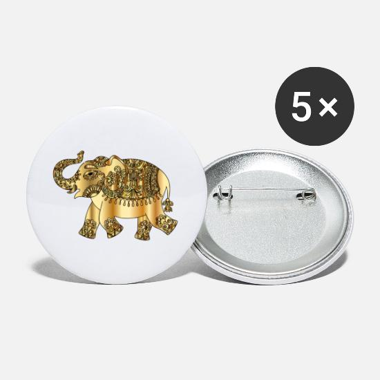 Remix Buttons - remix elephant gold - Small Buttons white