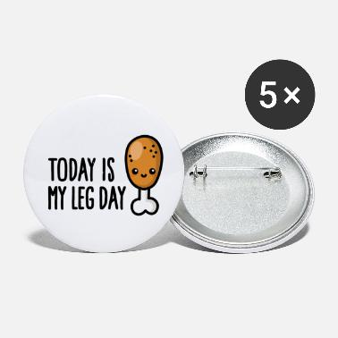 Hamstring today is my leg dayToday is my leg day - cute frie - Small Buttons