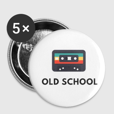 old school casette , old music - Small Buttons