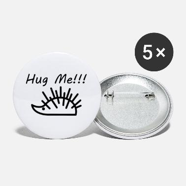 Drawing Funny hedgehog line drawing - Small Buttons